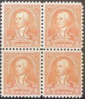 Mi 341* WASHINGTON 4BL - Unused Stamps