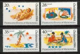 1984 Micronesia Natale Christmas Noel Set MNH** Nat 126 - Micronesia
