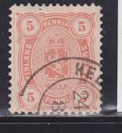 FINLANDE N° 14 5P ORANGE DENTELES 12 1/2  OBL - 1856-1917 Administration Russe