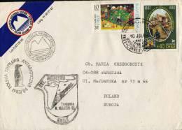 "ANTARCTIC, POLEN, Expedition 1983/84, Base ""Henryk ARCTOWSKI"", Dienstbrief !! Chile TTE MARSH - Unclassified"