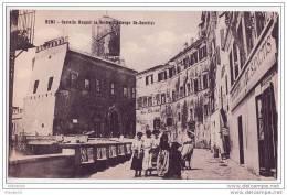 Nemi  - Castello Ruspoli - (a Destra L´Albergo De Sanctis) - Edit. De Sanctis - Nemi ***RARA*** - Roma