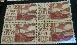 Mexico 1950 Stadium 80c X4 - Used - Mexique