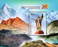 Kyrgyzstan 2011 20th Ann. Of Independence Mountains SS MNH - Kyrgyzstan