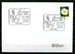"""Germany 2008 Stempelkarte/Motiv Wein/Vino Mit Mi.Nr.2451 U.SST"""" 70734 Fellbach-Philatelie Und Wein""""1 Karte - Vinos Y Alcoholes"""