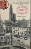 OBLITERATION CACHET STRASBOURG TOUR DE LA CATHEDRALE 4 JUILLET 1919 TRAMWAY 67 - Strasbourg