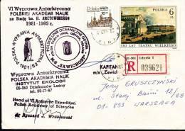 ANTARCTIC, Polen, IV Expedition 1981-83, REGISTRED, Signature: Leader !! - Poolfilatelie
