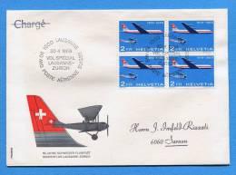 Suisse, Switzerland, Schweiz, 1969, 50 Jahe CH-Flugpost - FDC