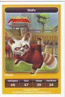 CARTE CARREFOUR DREAMWORKS KUNG FU PANDA SHIFU 89/216 BON ETAT - Trading Cards