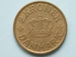 1925 - 2 KRONER / KM 825.1 ( Uncleaned - For Grade, Please See Photo ) ! - Danemark