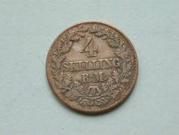 1856 - 4 SKILLING RM / KM 758.2 ( Uncleaned - For Grade, Please See Photo ) ! - Danemark