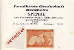 """Städte Notgeldscheine -  V. 1947 Landkreis Graf. Bentheim 1 Mark.  """"NOTGELD"""" (981) - [ 5] 1945-1949 : Allies Occupation"""