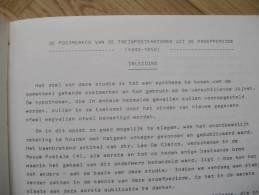 WEFIS 10: DE POSTMERKEN Vd TREINPOSTKANTOREN Uit De PROEFPERIODE 1840-1850.  1975  20pp - Belgique
