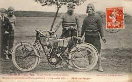 Circuit Du Mans 1912 - Grand Prix De France - Motocyclette - Péan Sur Peugeot - Le Mans