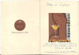 INDOCHINE .PROVINCE DE CANTHO . MOET ET CHANDON 1936 - Menükarten