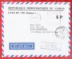Luftpost, Fussballclub DCMP, Frei- Und Poststempel Kinshasa, Nach Buchschlag 1972 (97395) - 1971-79: Gebraucht