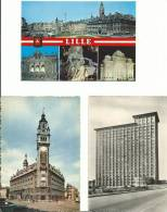 R :  Nord : LILLE :  Lot De Trois  Cartes  Dont  Centtre  Administratif - Lille
