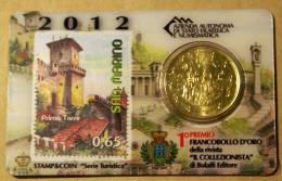 SAN MARINO 2012 - THE OFFICIAL STAMP & COIN CARD  2012 - San Marino
