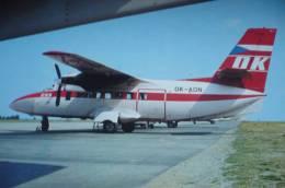 CSA   TURBOLET   OK ADN     AIRLINE ISSUE  / CARTE COMPAGNIE - 1946-....: Moderne