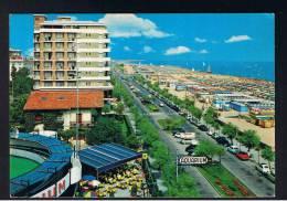 RB 893 - 1968 Postcard - Lungomare & Aquarium Riccione Italy 55Lire Rate To UK - Rimini