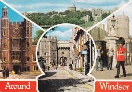 Cp , ANGLETERRE , WINDSOR , Around Windsor ,  Multi-Vues , Détails Au Verso