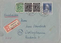 Gemeina. R-Brief Mif Minr.2x 912,915,964 Hannover 9.9.47 - Gemeinschaftsausgaben