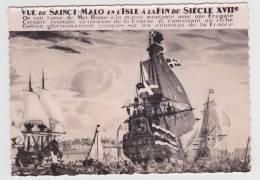 SAINT MALO - N° 105 - REPRODUCTION DU TABLEAU DE LA BRASSERIE DES VOYAGEURS DE GUSTAVE ALAUX - Saint Malo