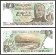 Argentine 50 PESOS ND 1983-85 P 314 UNCIRCULATED - Argentine