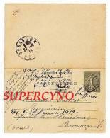CARTE LETTRE ENTIER POSTAL PHARMACIE CHAPELLE SAINT MARTIN D'ESTREAUX - Postcards
