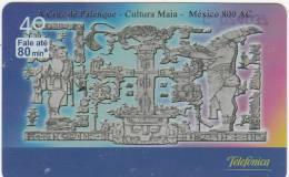BRAZIL(Telefonica) - Cultura Maia/A Cruz De Palenque, 01/04, Used - Brésil