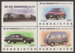 UZBEKISTAN 1997 - UZ-Daewoo, Cars - Set MNH - Oezbekistan