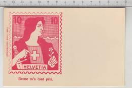 Helvetia - Berne M'a Tout Pris. - Lithographie Wolf, Bâle - Timbres (représentations)