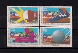 CHILE, YVERT 1372/1375**, JUEGOS OLÍMPICOS ATLANTA 96, DEPORTES - Verano 1996: Atlanta