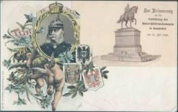 Ak Lithografie Kaiser Wilhelm Denkmal, Osnabrueck - Osnabrück