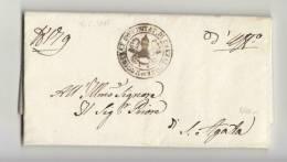 DB930-STATO CHIESA 1841 Lettera Contenuto CREVALCORE-S.AGATA BOLOGNESE-bollo PRIORE - 1. ...-1850 Vorphilatelie