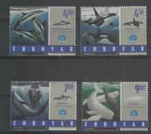 Feroe (1998) Yv. 330/33  / Dolphins - Dolphin - Whales - Whale - Ballenas - Delfines - Delfin - Walvissen