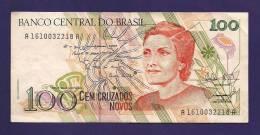 BRASIL ,  Banknote,  Used VF., 100 Cruzados Novos - Brazil