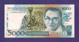 BRASIL ,  Banknote,  MINT UNC. , 5 Cruzados Novos On 5000 - Brazil