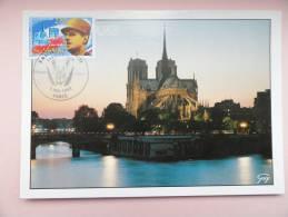 CARTE MAXIMUM MAXIMUM CARD NOTRE DAME DE PARIS FRANCE - 1990-99