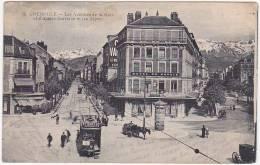 GRENOBLE - Les Avenues De La Gare Et D'Alsace-Lorraine Et Les Alpes - 1916 - Grenoble