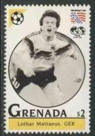Grenada 1993 Mi 2662 ** Lothar Mattäus (*1961) Germany – World Cup Football Championships USA / Fußball / WK-voetbal - World Cup