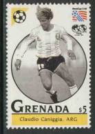 Grenada 1993 Mi 2664 ** Claudio Caniggia (*1967) Argentina – World Cup Football Championships USA / Fußball - World Cup