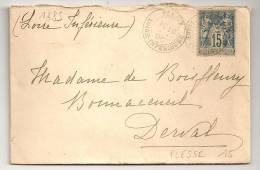 PLESSE Loire Inférieure Sur Enveloppe SAGE. - Marcophilie (Lettres)