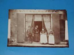 Photo Originale Ancienne VOIRON Isere Cafe J BOURDE RARE - Voiron
