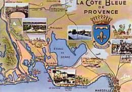 Carte Touristique De La Côte Bleue Et Multi-vues - France