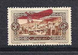 GRAND LIBAN AERIEN N� 14 VARIETEE RECTO-VERSO NEUF* TTB RARE