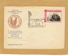 Enveloppe Brief Cover Ludowego Wojska Polskiego Soldat Flamme - Lettres & Documents