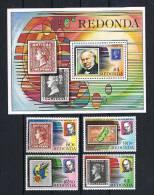 Redona 1979 Briefmarken Block  + Satz ** - Antigua Und Barbuda (1981-...)