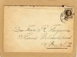 Enveloppe Brief Cover  Uccle Bruxelles 255 + Lettre - 1922-1927 Houyoux