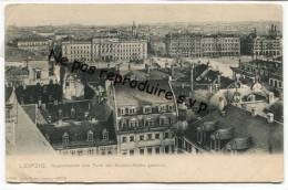 - Liepzig - Augustusplatz Vom Turm Der Nicolai-Kirche Gesehen - Précurseur, Non écrite, Ancienne, Bon état, Scans. - Leipzig