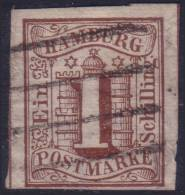 Hamburg: 1s From 1859 VFU (Y&T N° 2 , CV +120€) - Hambourg